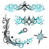 Tribals, stars, vector set Stock Image