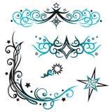 Tribals, stars, vector set Stock Image