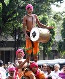 Tribals wykonuje dappu tana Zdjęcia Royalty Free