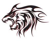 Tribalwolf纹身花刺 免版税库存照片