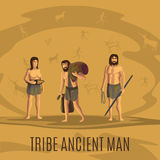 Tribe ancient people in cave Royalty Free Stock Photo