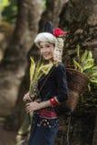 Tribe. In beautiful costume dress,beautiful  girl stock image
