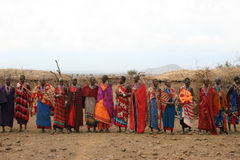 Tribe gathering Royalty Free Stock Photo
