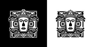 Tribe Mask  tribal. Symbol Stock Image
