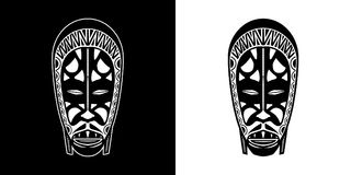 Tribe Mask vector. Tanzania Tribe Mask vector tribal Stock Photos