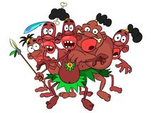 Tribe savages Stock Images