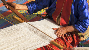 Tribe weave. The asian tribe weave cloth royalty free stock images