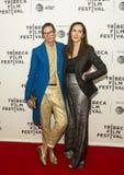 ` 2017年Tribeca电影节首放的珍娜利昂和Laurie Simmons我的艺术` 免版税图库摄影