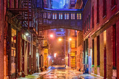 Tribeca Alley in New York. Alley in the Tribeca neighborhood in New York City royalty free stock photography