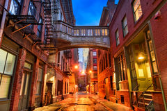 Tribeca Alley in New York. Alley in the Tribeca neighborhood in New York City Royalty Free Stock Photos