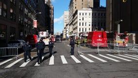 TriBeCa Crane Collapse 20 Stock Afbeeldingen