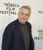 2015 Tribeca Film Festival. Actor and Tribeca Film Festival co-founder Robert De Niro arrives on the red carpet for the world premiere of Play It Forward, at the royalty free stock image