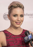 2015 Tribeca Film Festival. Arrives on the red carpet at the 14th Annual Multi-talented actress/director/singer/dancer Dianna Agron arrives on the red carpet for Royalty Free Stock Photography