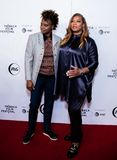 Tribeca Film Festival - Red Carpet before premiere of the Queen Collective. Tribeca Talks - Queen Latifah and Dee Rees at  the  premiere of the Queen Collective stock image