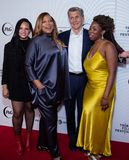 Tribeca Film Festival - Red Carpet before premiere of the Queen Collective. Tribeca Talks - Queen Latifah, Haley Anderson, Marc Pritchard and Brittany Fennell at stock image