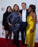 Tribeca Film Festival - Red Carpet before premiere of the Queen Collective. Tribeca Talks - Queen Latifah, Haley Anderson, Marc Pritchard and Brittany Fennell at royalty free stock photo