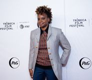 Tribeca Film Festival - Red Carpet before premiere of the Queen Collective. Tribeca Talks - Dee Rees  at  the  premiere of the Queen Collective shorts - Red royalty free stock photos