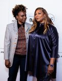 Tribeca Film Festival - Red Carpet before premiere of the Queen Collective. Tribeca Talks - Queen Latifah with Dee Rees - with the premiere of the Queen royalty free stock images
