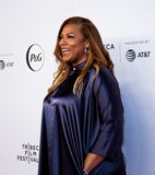 Tribeca Film Festival - Red Carpet before premiere of the Queen Collective. Tribeca Talks - Queen Latifah at  the  premiere of the Queen Collective shorts - Red stock images