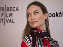 2015 Tribeca Film Festival. Stunning actress Olivia Wilde arrives on the red carpet at the 14th Annual Tribeca Film Festival in New York City on April 18, 2015 Royalty Free Stock Photography