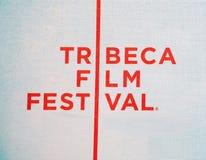 Tribeca Film-Festival-Zeichen Lizenzfreies Stockbild