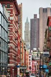 Tribeca New York. NEW YORK - JULY 1, 2013: Street view of Tribeca district, New York. The name Tribeca is an abbreviation from \'Triangle Below Canal Street stock images