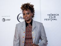 Tribeca Film Festival - Red Carpet before premiere of the Queen Collective. Tribeca Talks - Dee Rees  at  the  premiere of the Queen Collective shorts - Red royalty free stock images