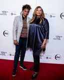 Tribeca Film Festival - Red Carpet before premiere of the Queen Collective. Tribeca Talks - Queen Latifah and Dee Rees at  the  premiere of the Queen Collective stock photography