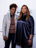 Tribeca Film Festival - Red Carpet before premiere of the Queen Collective. Tribeca Talks - Queen Latifah and Dee Rees at  the  premiere of the Queen Collective royalty free stock photos