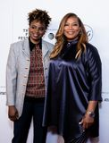 Tribeca Film Festival - Red Carpet before premiere of the Queen Collective. Tribeca Talks - Queen Latifah with Dee Rees - with the premiere of the Queen royalty free stock photography
