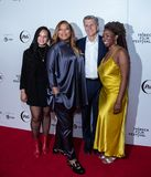 Tribeca Film Festival - Red Carpet before premiere of the Queen Collective. Tribeca Talks - Queen Latifah, Haley Anderson, Marc Pritchard and Brittany Fellon at royalty free stock photography