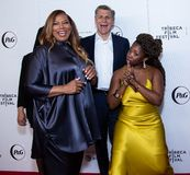 Tribeca Film Festival - Red Carpet before premiere of the Queen Collective. Tribeca Talks - Queen Latifah, Haley Anderson, Marc Pritchard and Brittany Fennell at stock photo