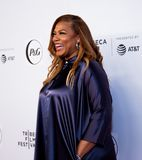 Tribeca Film Festival - Red Carpet before premiere of the Queen Collective. Tribeca Talks - Queen Latifah at  the  premiere of the Queen Collective shorts - Red royalty free stock photo