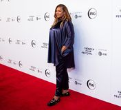 Tribeca Film Festival - Red Carpet before premiere of the Queen Collective. Tribeca Talks - Queen Latifah at  the  premiere of the Queen Collective shorts - Red stock photos