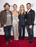 Tribeca TV: Indie Pilots. New York, NY, USA - April 23, 2018: Norbert Leo Butz, Jennifer Morrison, Zosia Mamet and Evan Jonigkeit attend the screening of `Fabled Royalty Free Stock Photography