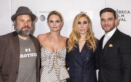Tribeca TV: Indie Pilots. New York, NY, USA - April 23, 2018: Norbert Leo Butz, Jennifer Morrison, Zosia Mamet and Evan Jonigkeit attend the screening of `Fabled Stock Image