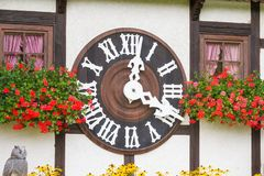 TRIBERG, GERMANY - AUGUST 21 2017: Biggest Cuckoo Clock in the W Royalty Free Stock Photos