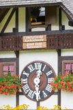 TRIBERG, GERMANY - AUGUST 21 2017: Biggest Cuckoo Clock in the W Royalty Free Stock Photography
