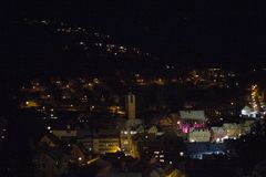 Triberg, Germany at night royalty free stock image