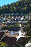 View of Triberg houses. Triberg is famous for the tallest waterfall in Germany. stock photo