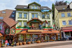 Triberg, Schwarzwald-Baar District, Germany - July 15, 2018: House of 1000 cuckoo clocks