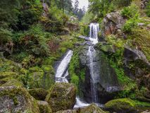 Triberg waterfalls in the Black Forest stock images