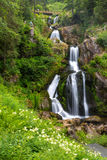 Triberg waterfalls. Triberg Falls is one of the highest waterfalls in black forest, Germany Stock Photos