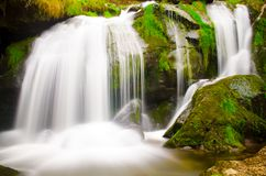 Triberger瀑布在Blackforest德国 库存图片