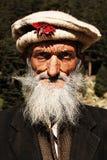 tribesmen Aldeano del viejo hombre del valle del golpe violento, KPK, Paquistán Fotografía de archivo libre de regalías