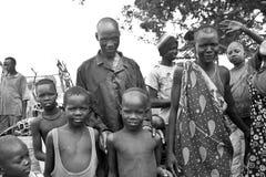 Tribespeople och scarification Fotografering för Bildbyråer