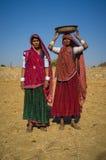 2 tribewomen Rabari Стоковые Изображения RF
