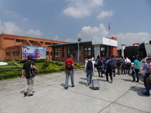 Tribhuvan Internationale Luchthaven in Katmandu Stock Afbeelding