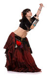 Trible belly dancer posing with hands. Stock Photo