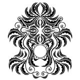 Trible spirit demon face silhouette symbol. There is a abstract face Royalty Free Stock Images